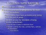 revolution turns radical