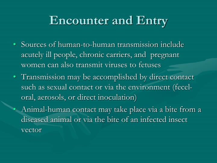Encounter and Entry