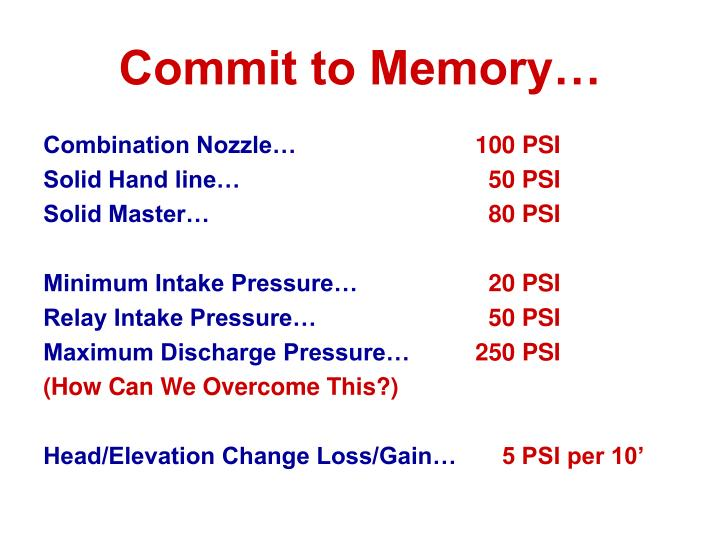 Commit to Memory…
