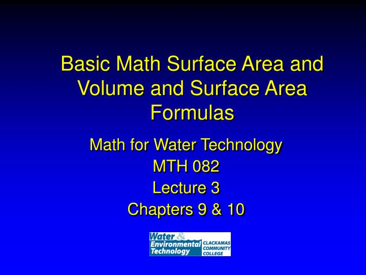 basic math surface area and volume and surface area formulas n.