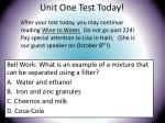 unit one test today