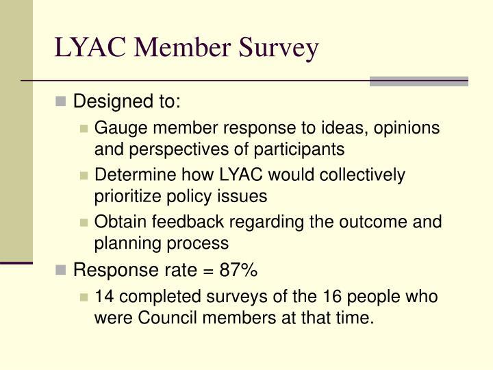 LYAC Member Survey