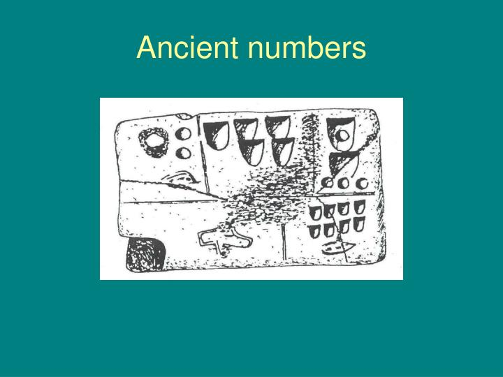 Ancient numbers
