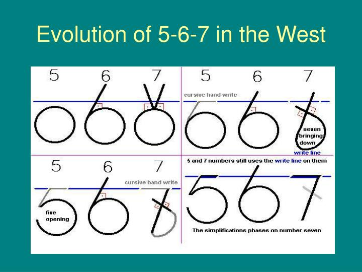 Evolution of 5-6-7 in the West