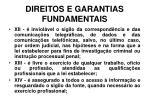 direitos e garantias fundamentais17
