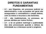 direitos e garantias fundamentais31