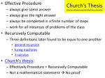 church s thesis http en wikipedia org wiki effectively calculable