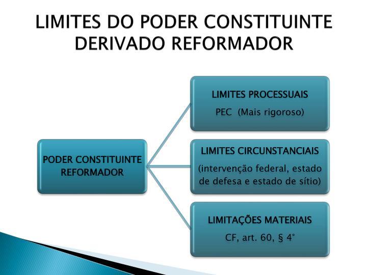 LIMITES DO PODER CONSTITUINTE DERIVADO REFORMADOR