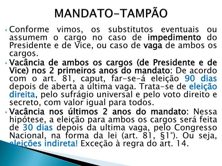 MANDATO-TAMPÃO