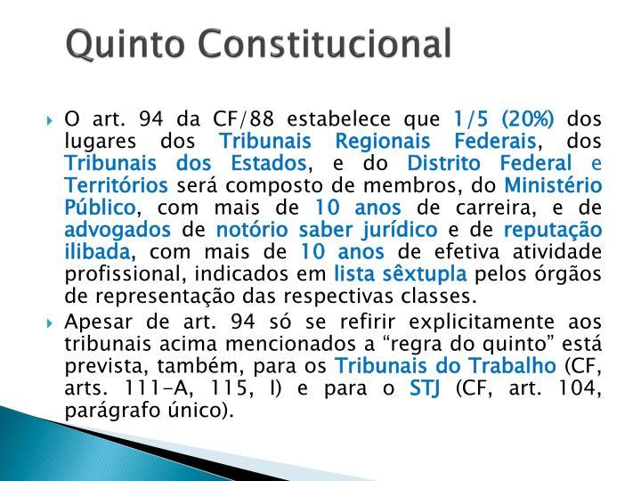 Quinto Constitucional