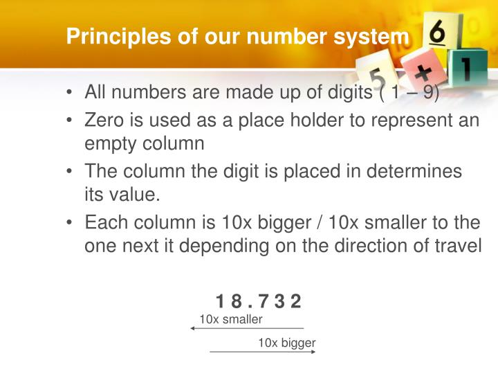 Principles of our number system