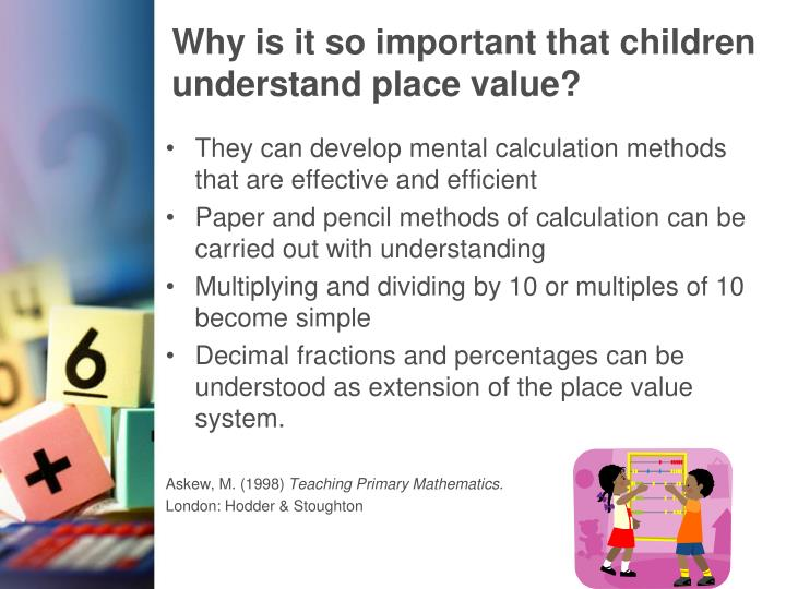 Why is it so important that children understand place value?