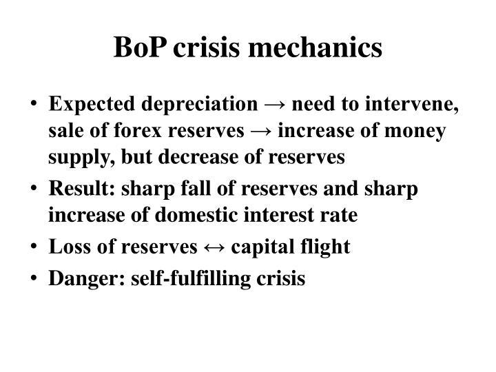 BoP crisis mechanics