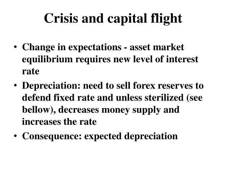Crisis and capital flight