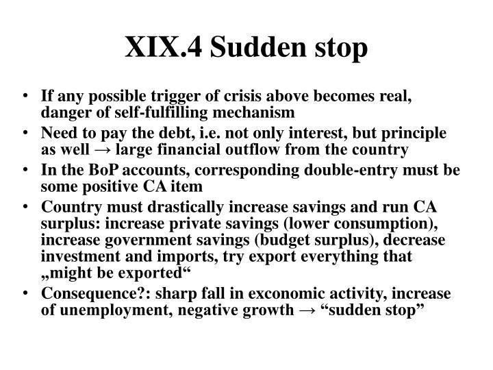 XIX.4 Sudden stop