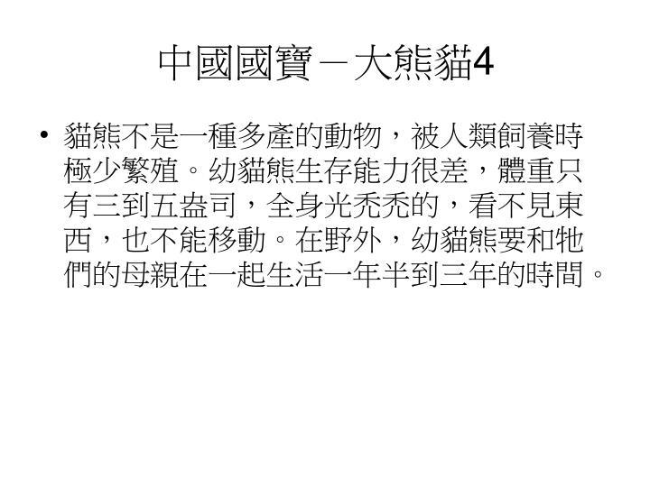 中國國寶-大熊貓