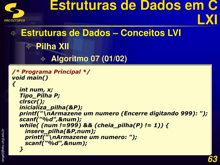 Estruturas de Dados em C LXI