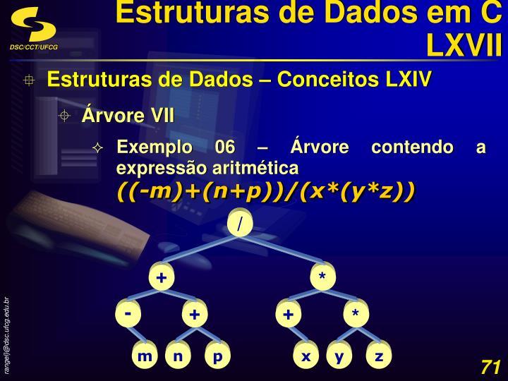 Estruturas de Dados em C LXVII