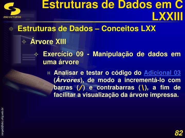 Estruturas de Dados em C LXXIII
