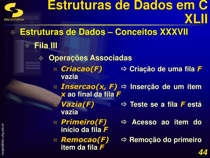 Estruturas de Dados em C XLII