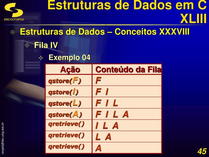 Estruturas de Dados em C XLIII