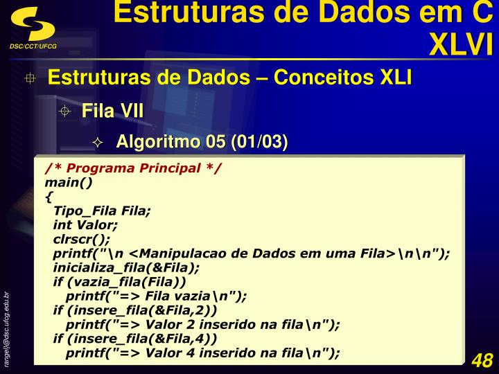 Estruturas de Dados em C XLVI