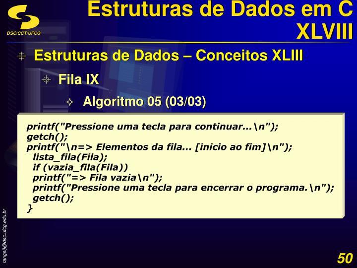 Estruturas de Dados em C XLVIII