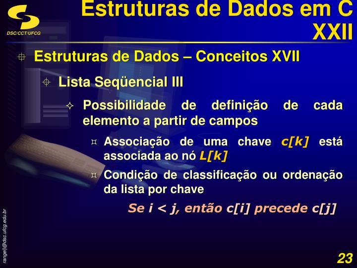 Estruturas de Dados em C XXII