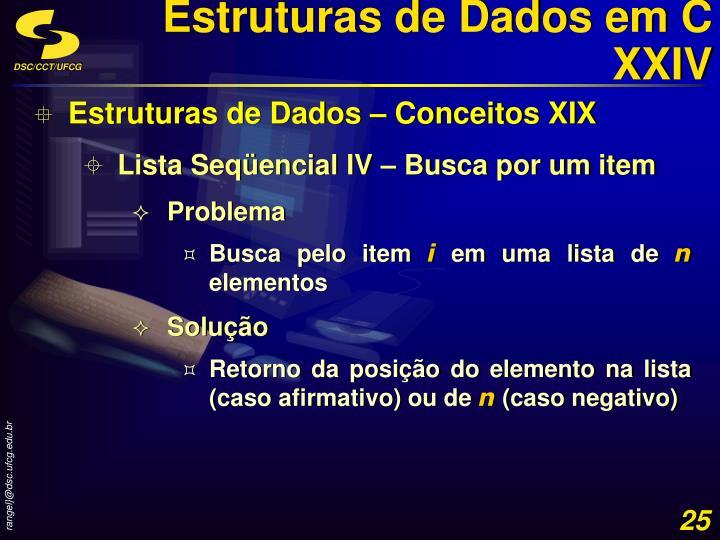 Estruturas de Dados em C XXIV