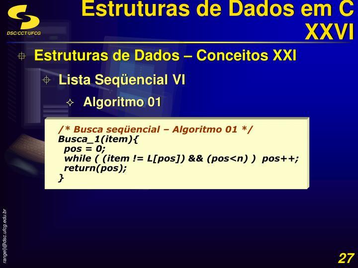 Estruturas de Dados em C XXVI