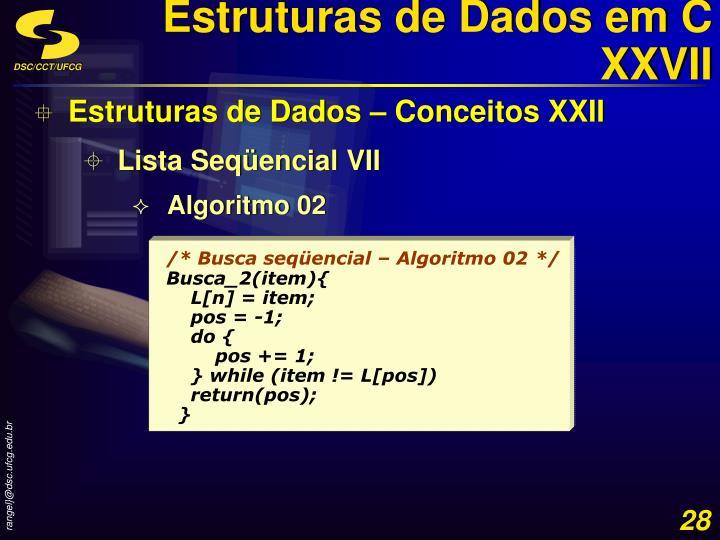 Estruturas de Dados em C XXVII
