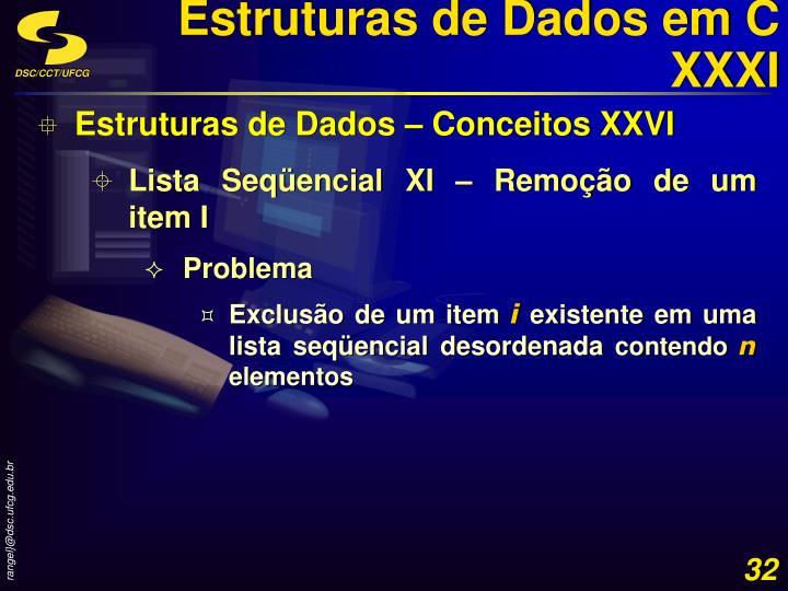 Estruturas de Dados em C XXXI