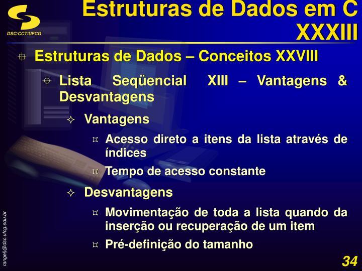 Estruturas de Dados em C XXXIII