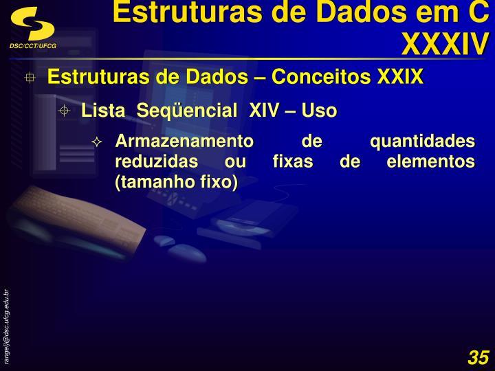 Estruturas de Dados em C XXXIV
