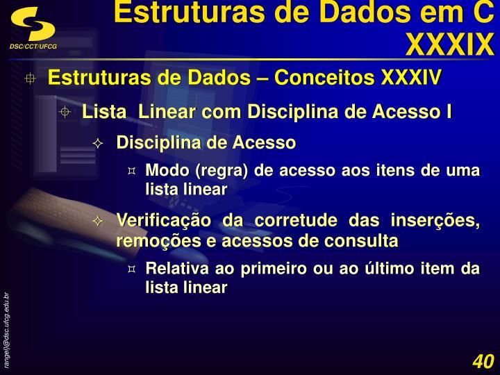 Estruturas de Dados em C XXXIX