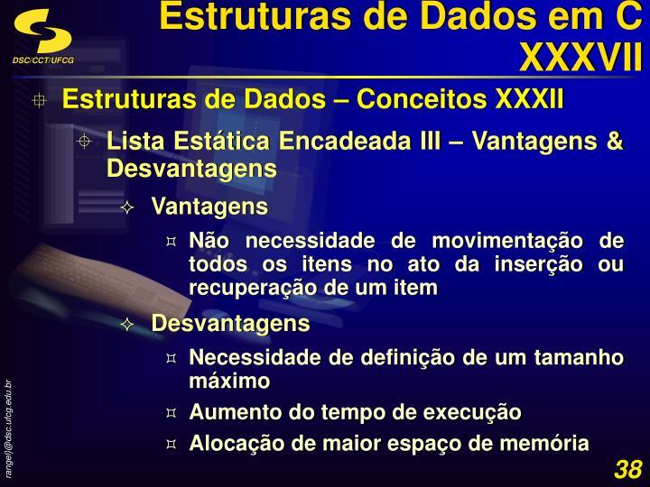Estruturas de Dados em C XXXVII