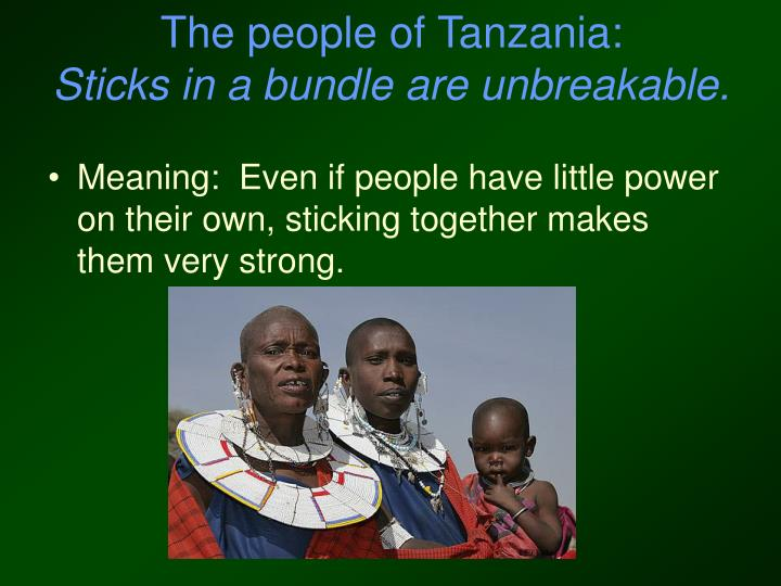 The people of Tanzania: