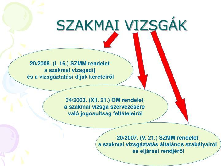 SZAKMAI VIZSGÁK