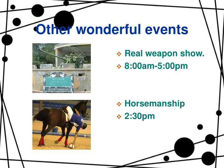 Other wonderful events
