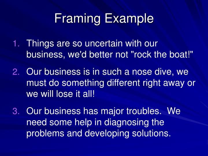 Framing Example