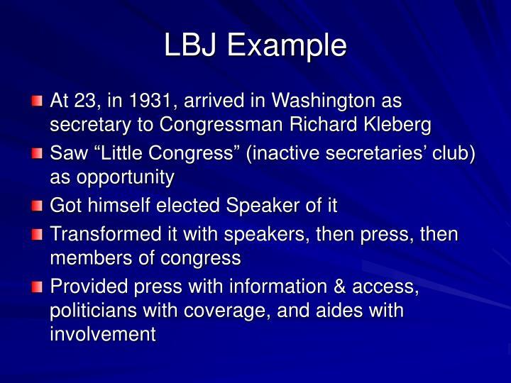 LBJ Example