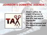 johnson s domestic agenda