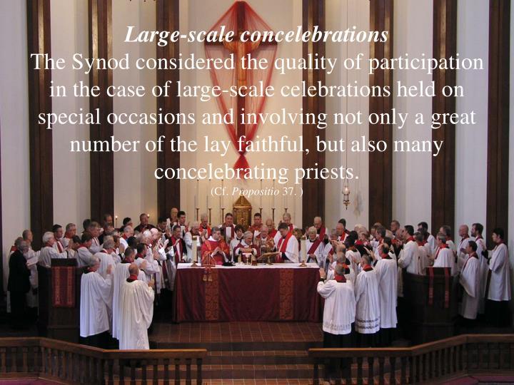 Large-scale concelebrations