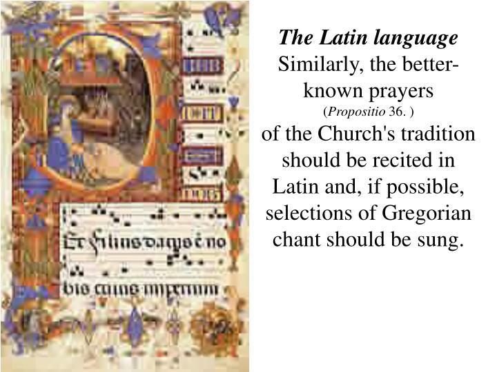 The Latin language