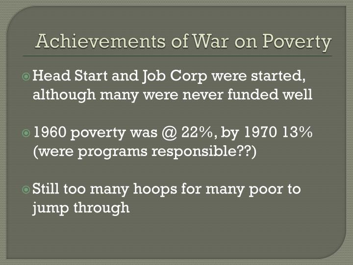 Achievements of War on Poverty