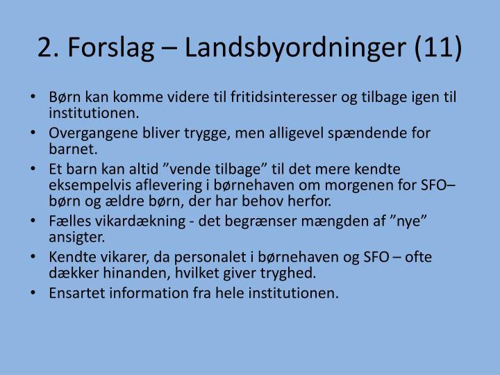2. Forslag – Landsbyordninger (11)
