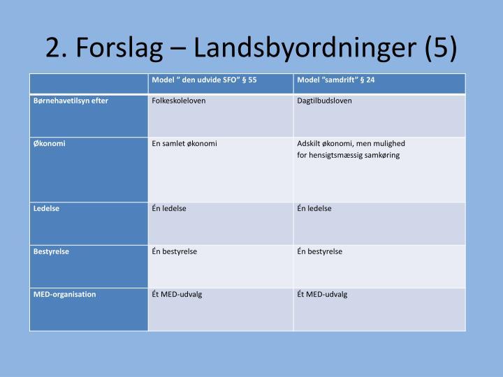 2. Forslag – Landsbyordninger (5)