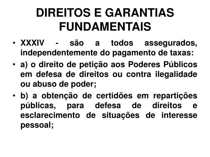 Direitos e garantias fundamentais1