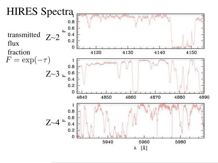 HIRES Spectra