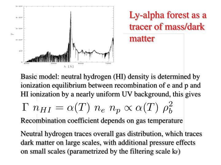 Ly-alpha forest as a tracer of mass/dark matter